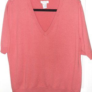 Coral Short Sleeved Sweater - Pure by Alfred Sung